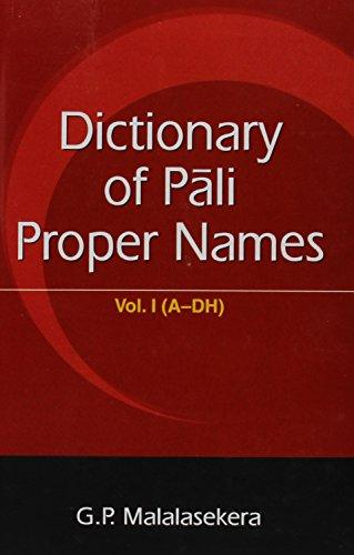 Dictionary Of Pali Proper Names, 2 Vols